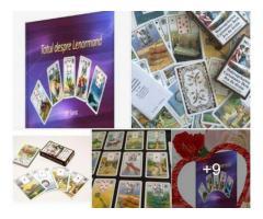 Carti lenormand +gratis cartea in limba romana+cadou un set de rune