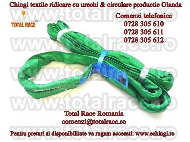 Chingi de ridcare cu urechi, chingi textile circulare