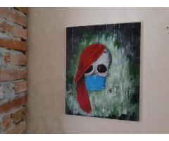 Pictura pe panza in culori acrilice diverse teme