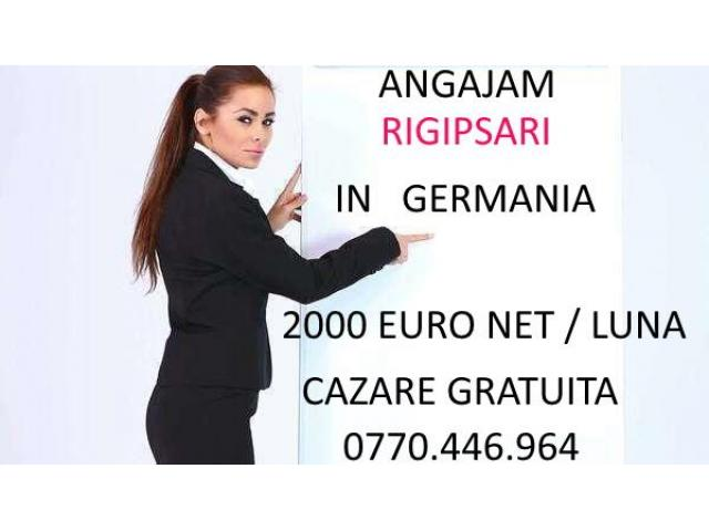 Angajam rigipsar in Germania